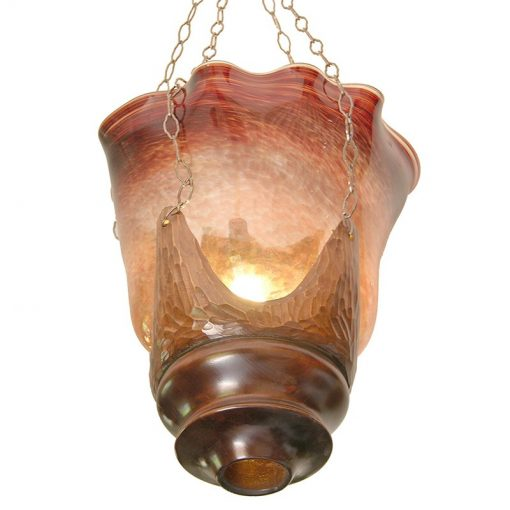 memorial liblown glass ner tamid in wood mold
