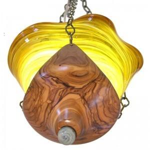 ancient israeli olive wood base ner tamid for shaarey tefilla eternal light