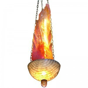 blown glass single flame ner tamid