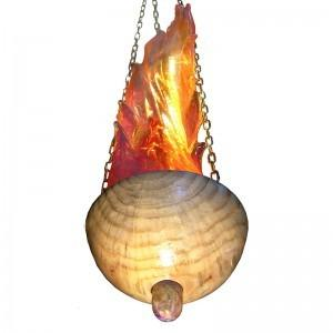 blown glass flame ner tamid