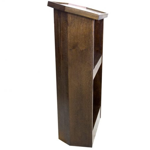 side view of contemporary rabbi lectern