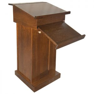 podium lecturn with pull down shtender table