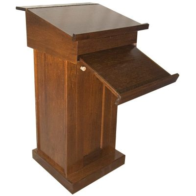 wood podium rabbi cantor pulpit prayer stand