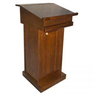 podium rabbi cantor pulpit prayer stand pull down table closed position
