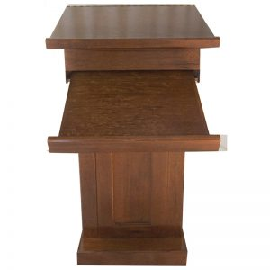 podium rabbi cantor pulpit prayer stand pull down table front view