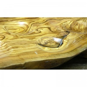 Olive wood seder plate detail of hand carving