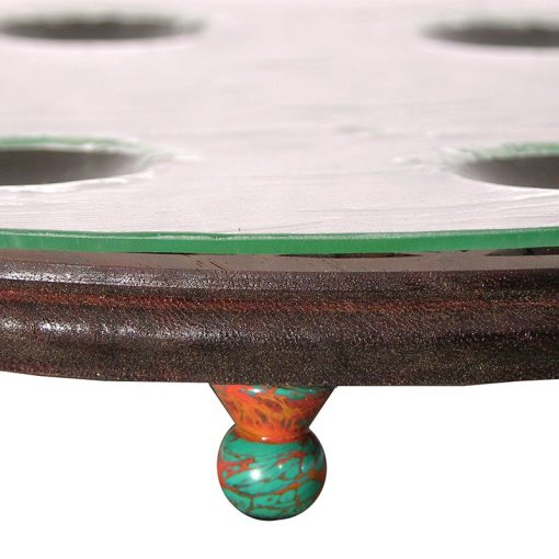 shaped glass seder plate with glass legs
