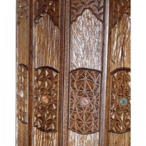 sephrdi torah case with carving and twelve tribes