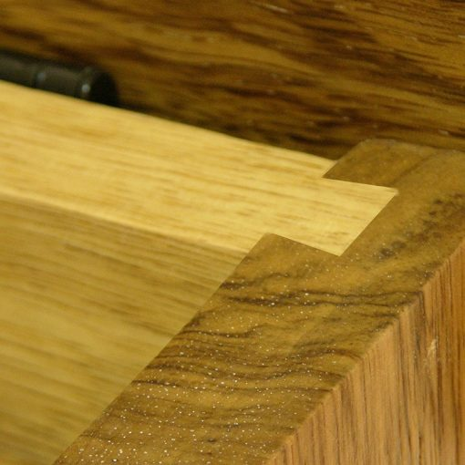 dovetail joinery of solid wood african walnut shtender