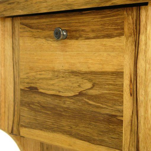 top box and glass handle on solid wood bookstand