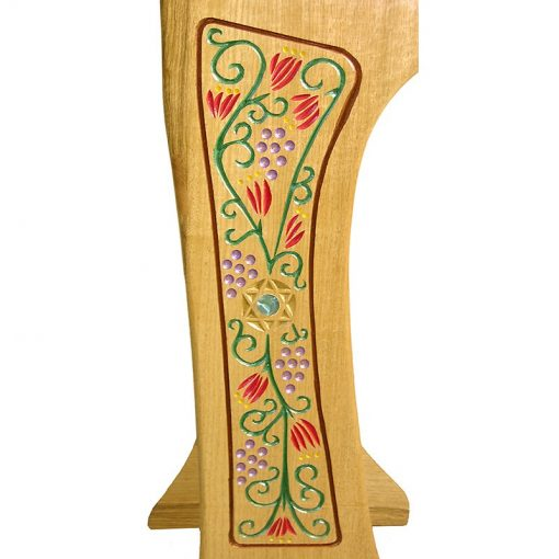 carved and painted amud tefillah