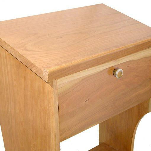 details of shtender top built from cherry wood