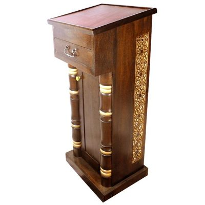 podium prayer stand for lebanese synagogfue in brooklyn, new york
