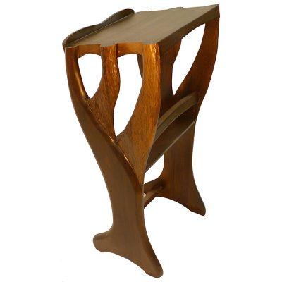 tree of life wood carved shtender