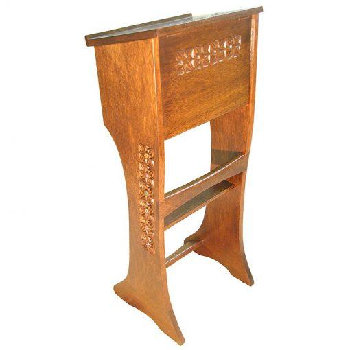 back of twelve tribes carved wood shtender