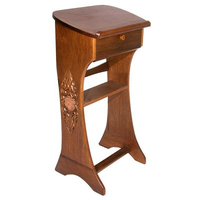copper and carved shtender lecturn podium