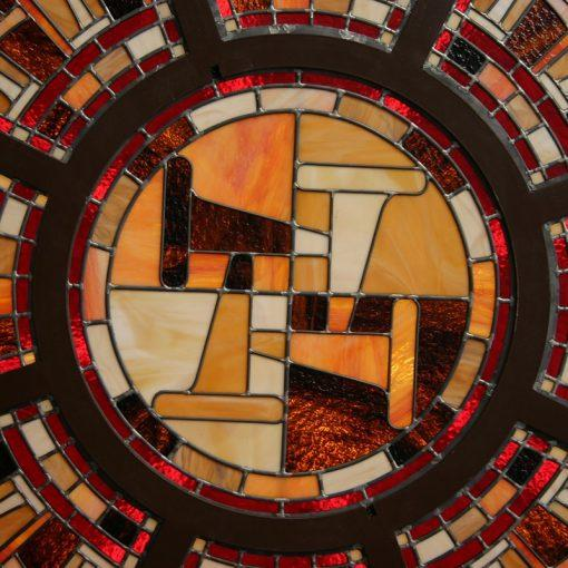 stained glass domed lighting pattern