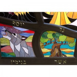 stained glass detail of twelve tribes light box