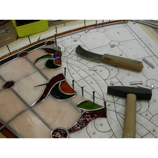 stained glass windows in progress