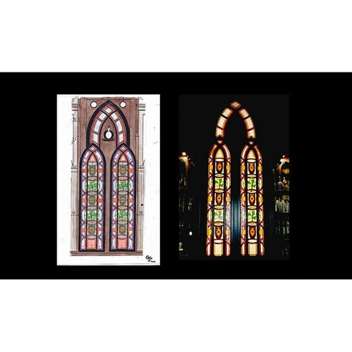 stained glass windows for Irish pub in Israel