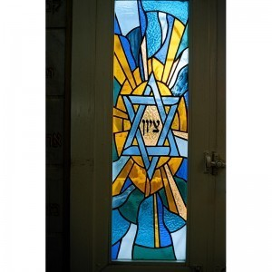 Stained glass windows for synagogue in Israel star of david