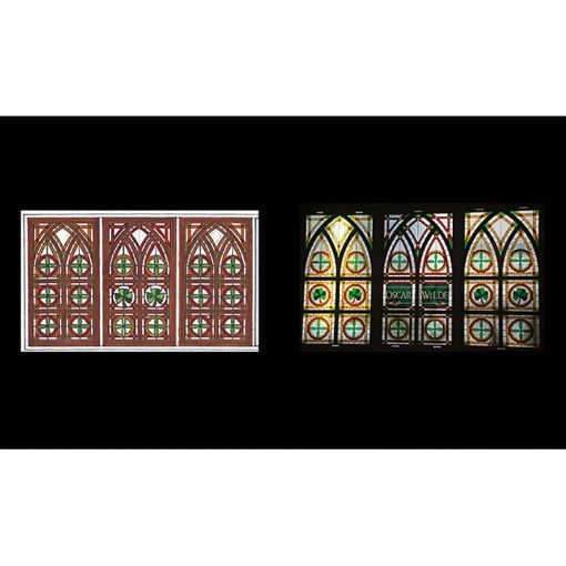 stained glass windows with sketch