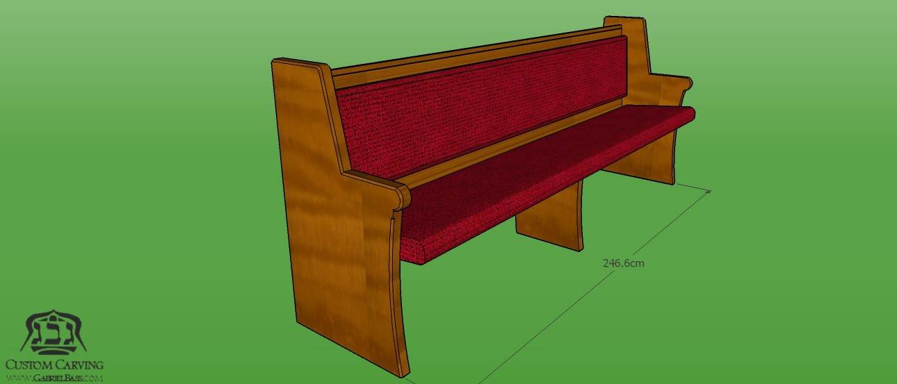 standard single bench for synagogue