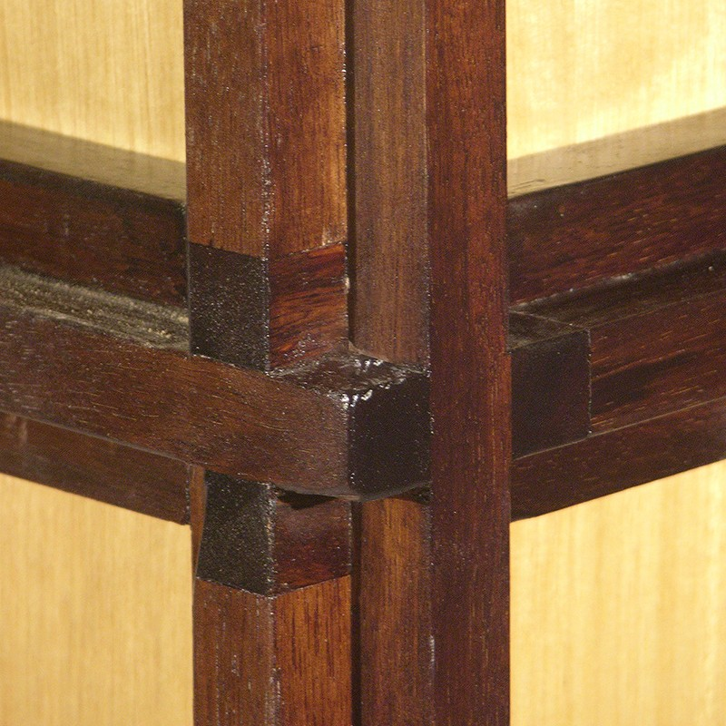 wood joinery in cross join