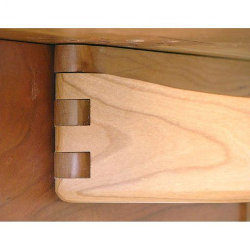 wooden hing on extending cherry wood table