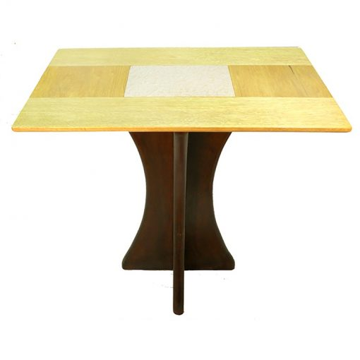 wood and tile contemporary table