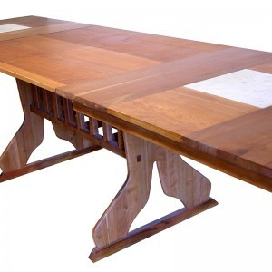 extending cherry wood dining table israel