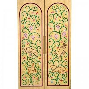 Pirke Avot portable torah ark carved doors