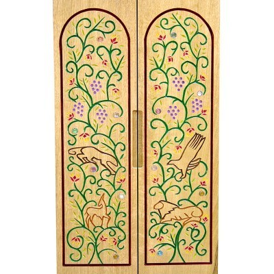 Pirke Avot portable torah ark carved doors