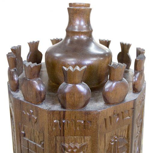 hand carved twelve tribes on torah case