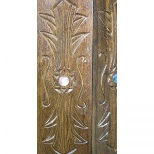 hand carving and glass inlays on torah case