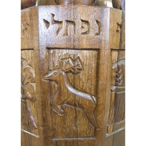 solid wood details of torah case