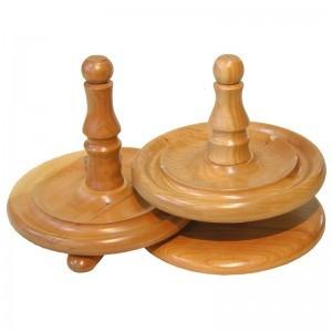 light wood african walnut torah handles
