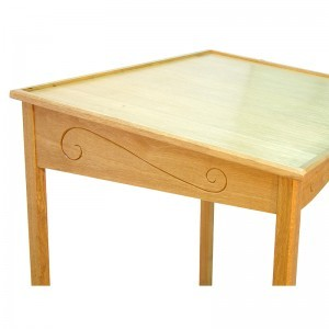 portable wood torah reading table carving
