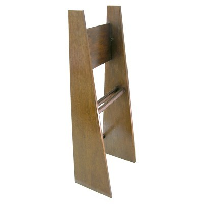 torah stand to hold torah in dark wood finish