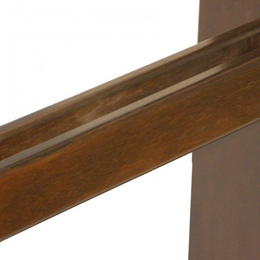 torah stand detail of rails that hold torah handles