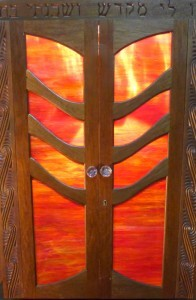 Tree of Life red glass ark doors
