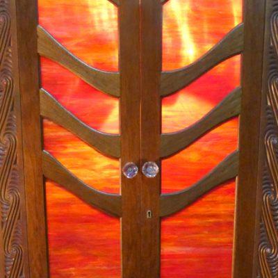 Tree of Life red glass ark doors