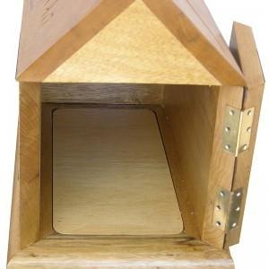 tzedakah box custom built from solid wood for the BrooklynJewish Children's museum open