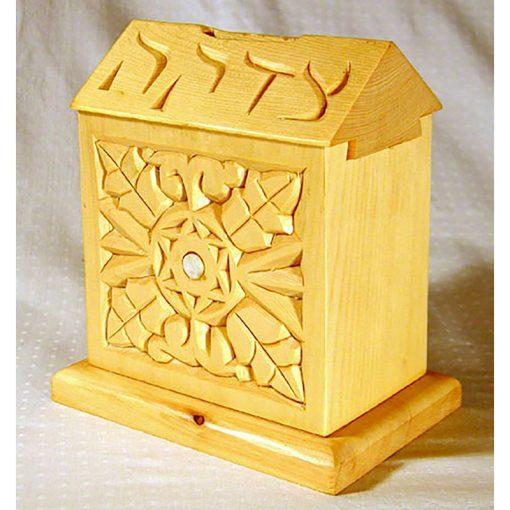 Tzedakah box with dovetail joinery
