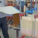 Glue up curves memorial board