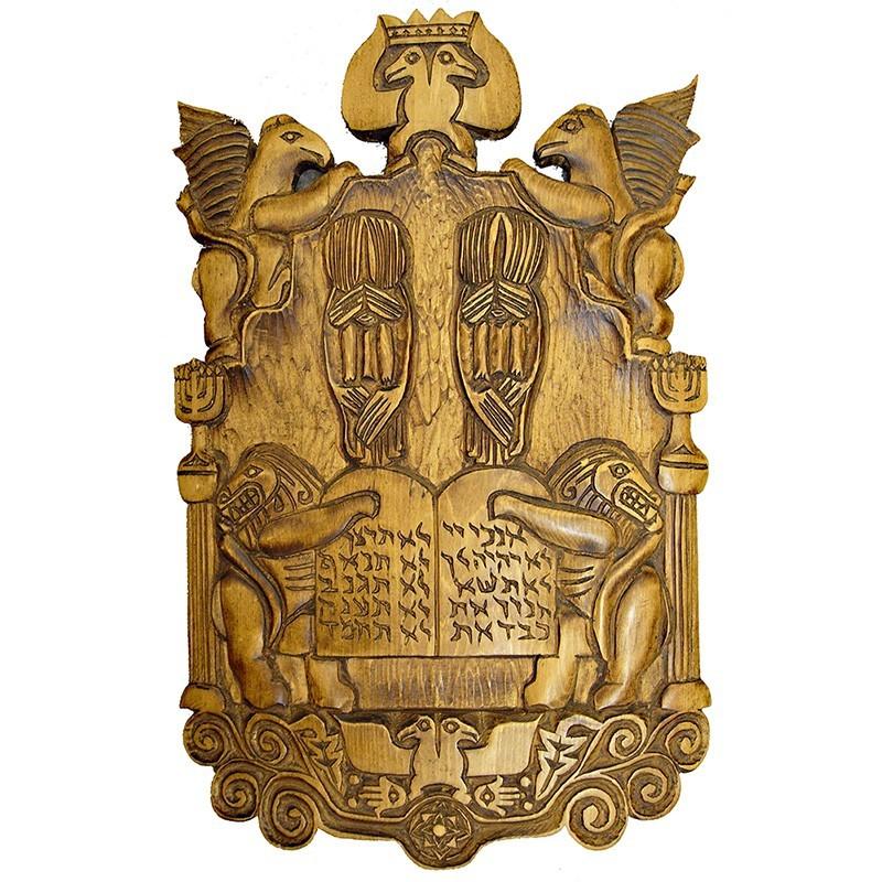 jewish wood carving for synagogue dedication
